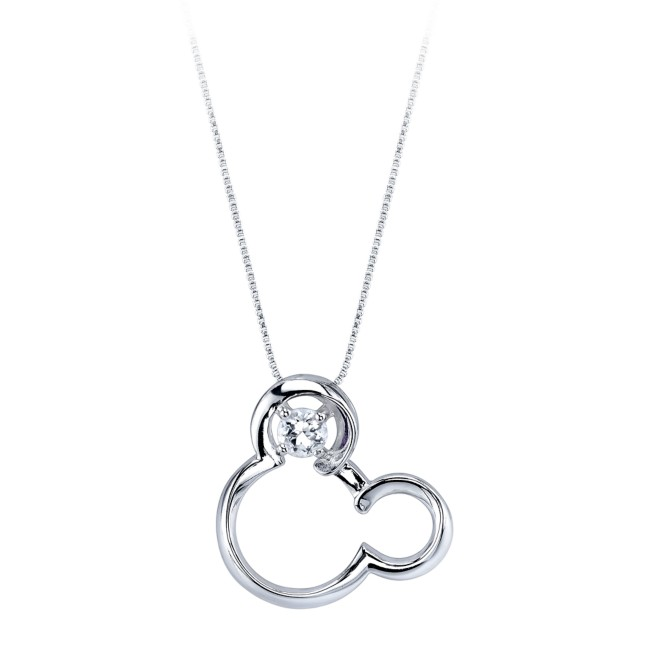 Mickey Mouse April Birthstone Necklace for Women – White Sapphire