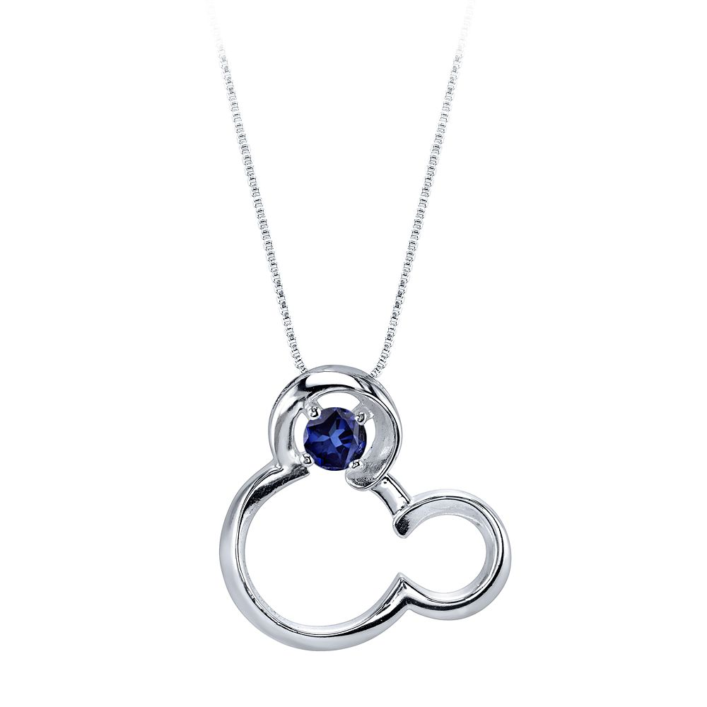 Mickey Mouse September Birthstone Necklace for Women – Sapphire