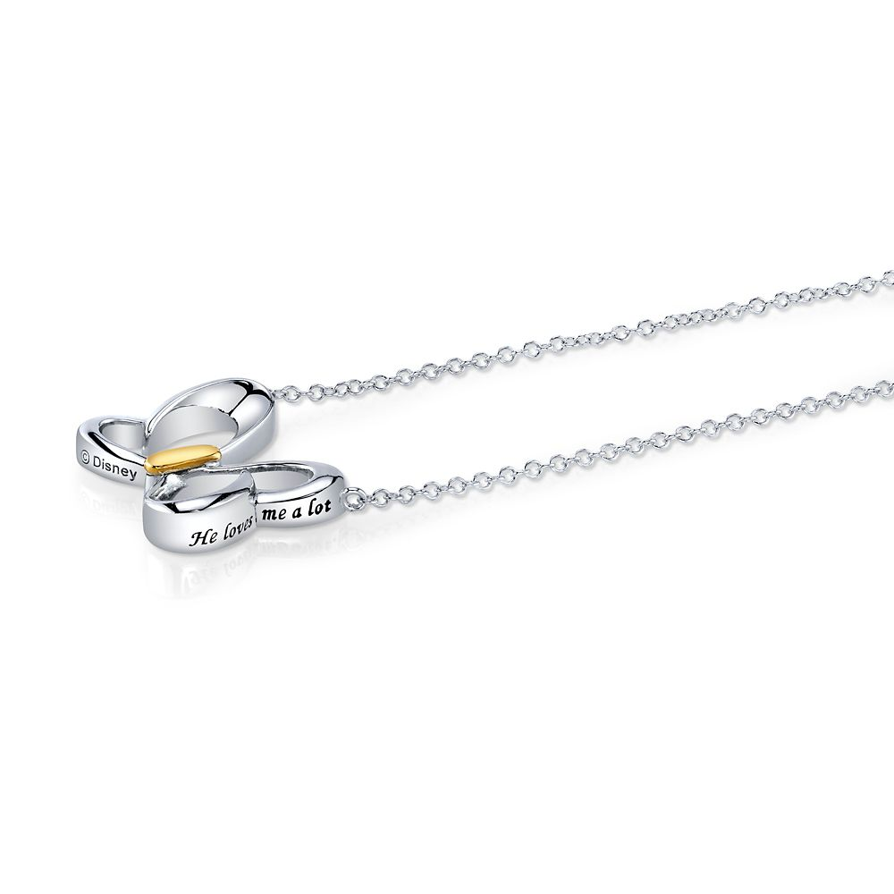 Minnie Mouse ''He Loves Me'' Bow Necklace