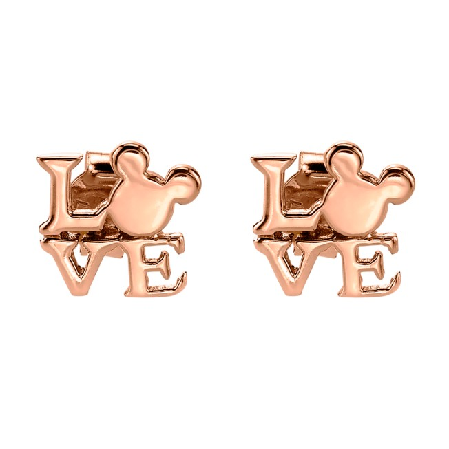 Mickey Mouse Rose Gold Earrings