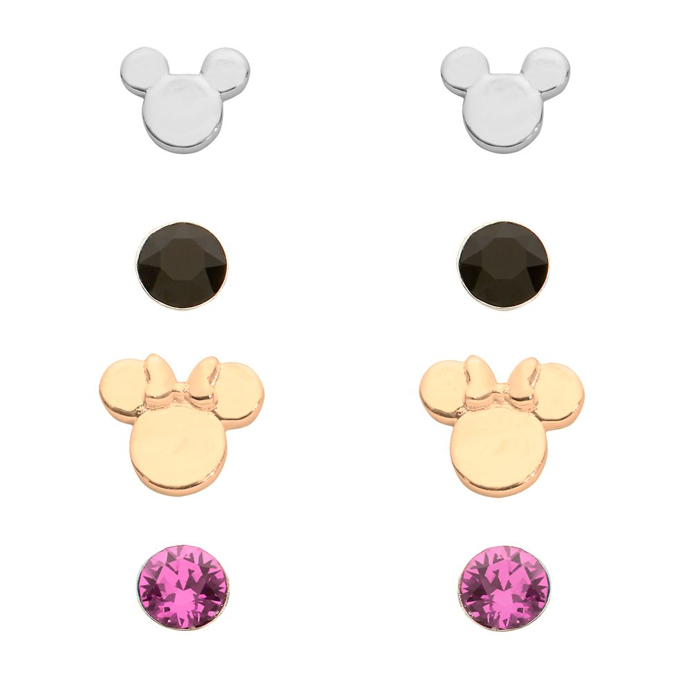 Mickey and Minnie Mouse Earring Set