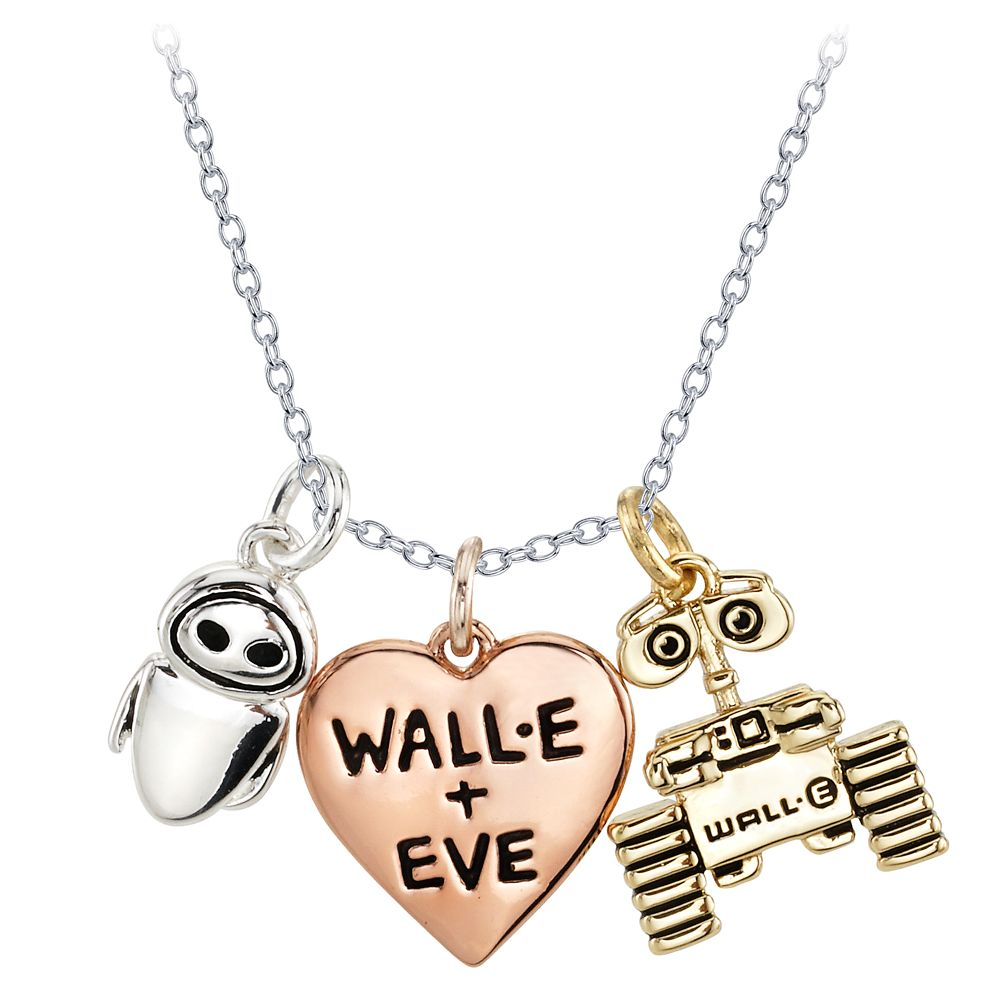 WALL•E and E.V.E. Heart Necklace