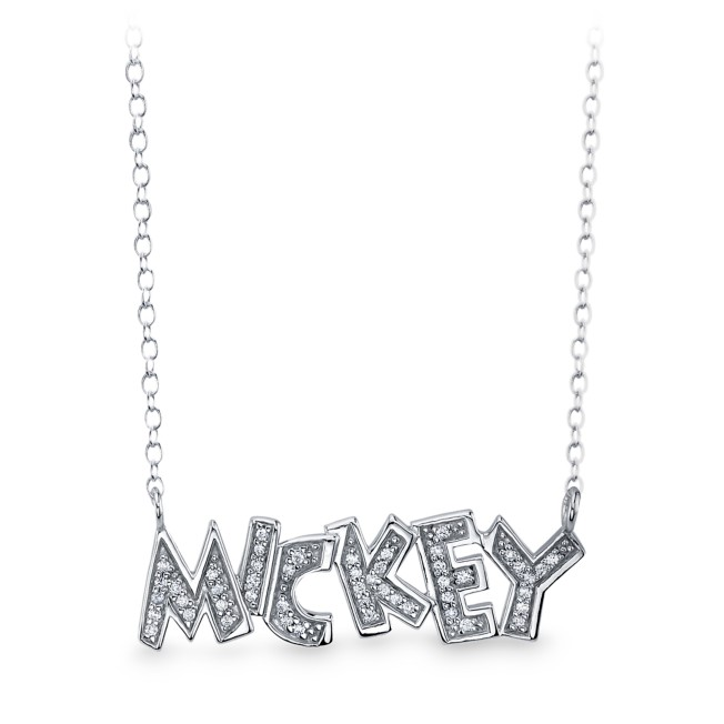 Mickey Mouse Jeweled Name Necklace