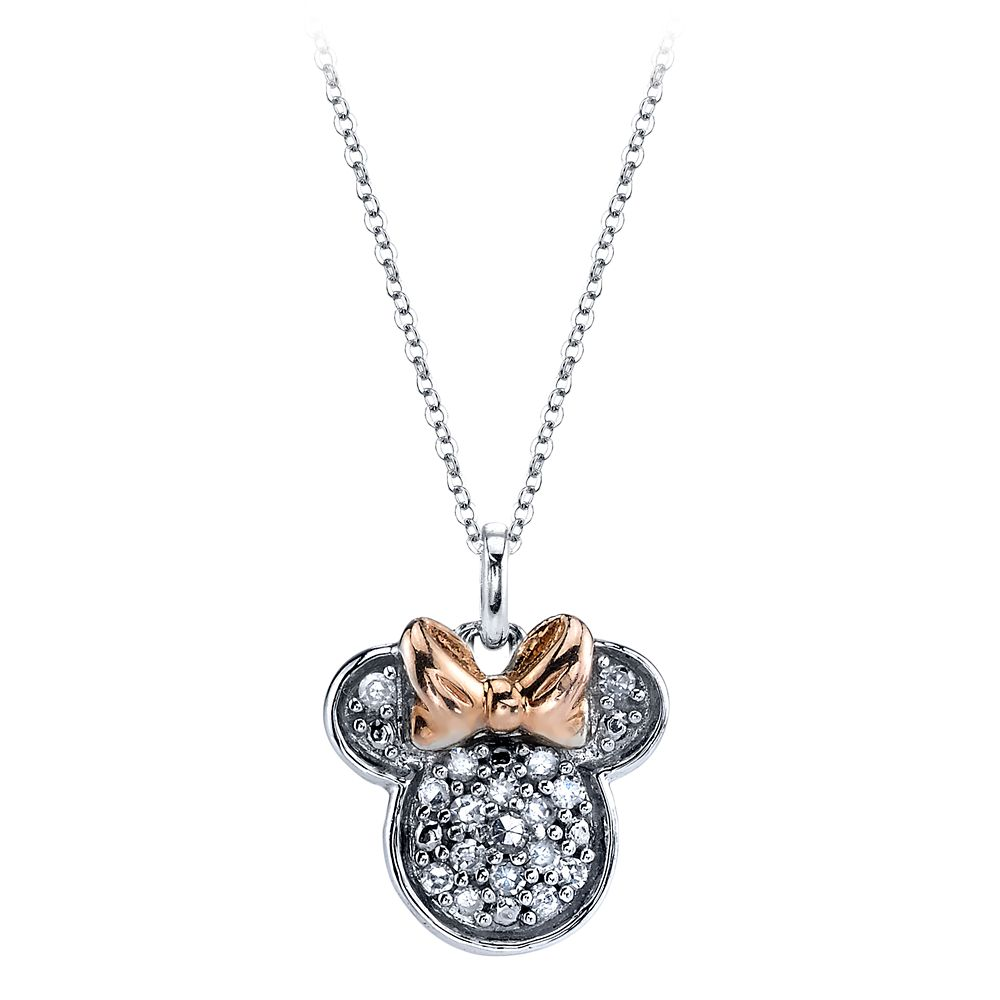 Minnie Mouse Icon Diamond Necklace