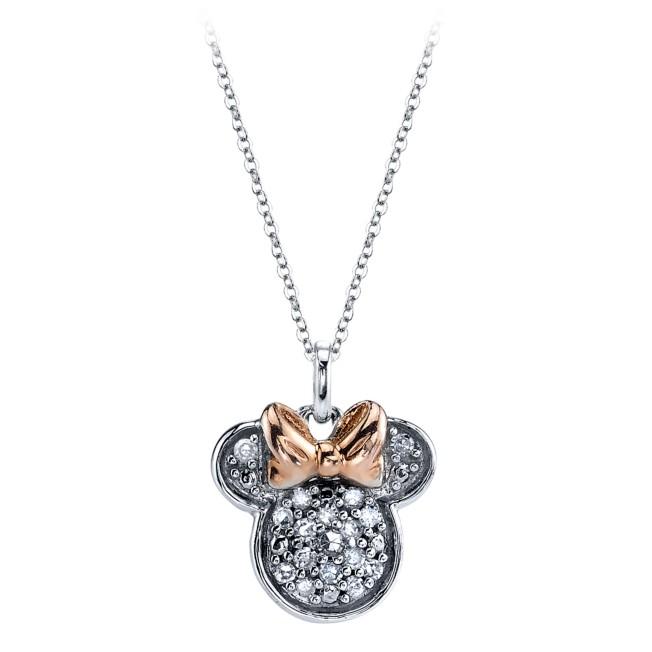 Minnie Mouse Icon Diamond Necklace