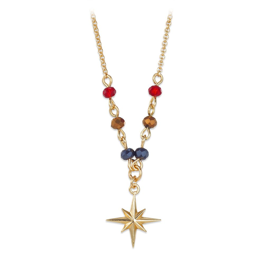 35 Amazing Marvel Gift Ideas featured by top US Disney blogger, Marcie and the Mouse: Marvel's Captain Marvel Star Crystal Bead Necklace Official shopDisney