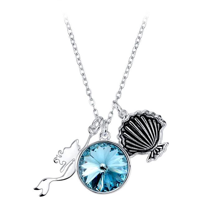 Ariel Aqua Swarovski Charm Necklace