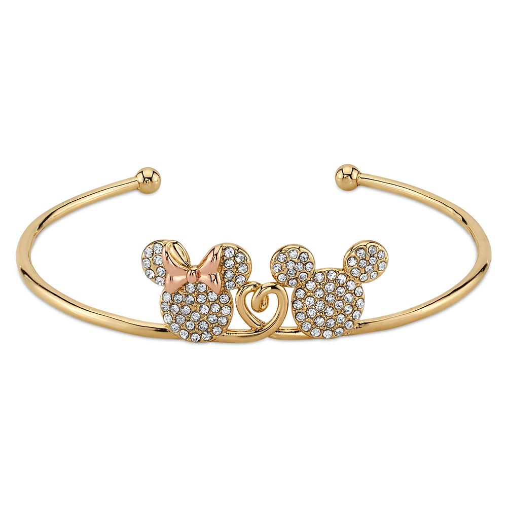 Mickey and Minnie Mouse Bracelet with Crystals