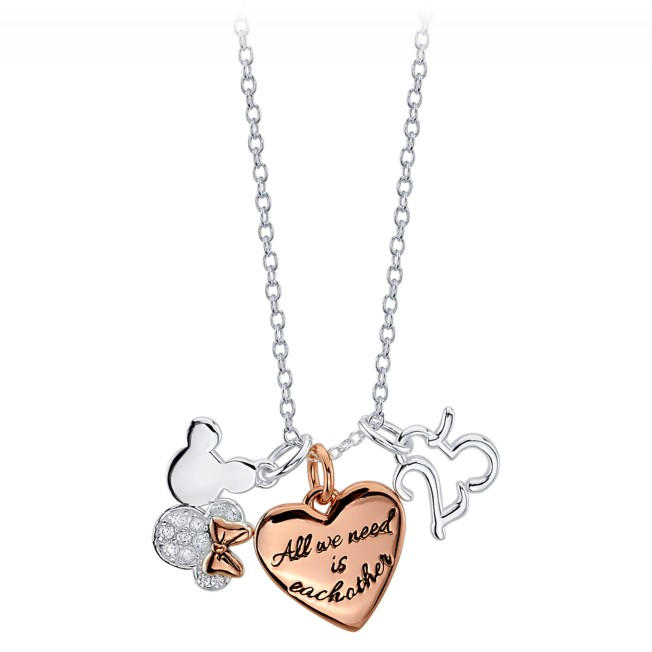 Mickey and Minnie Mouse ''25'' Charm Necklace