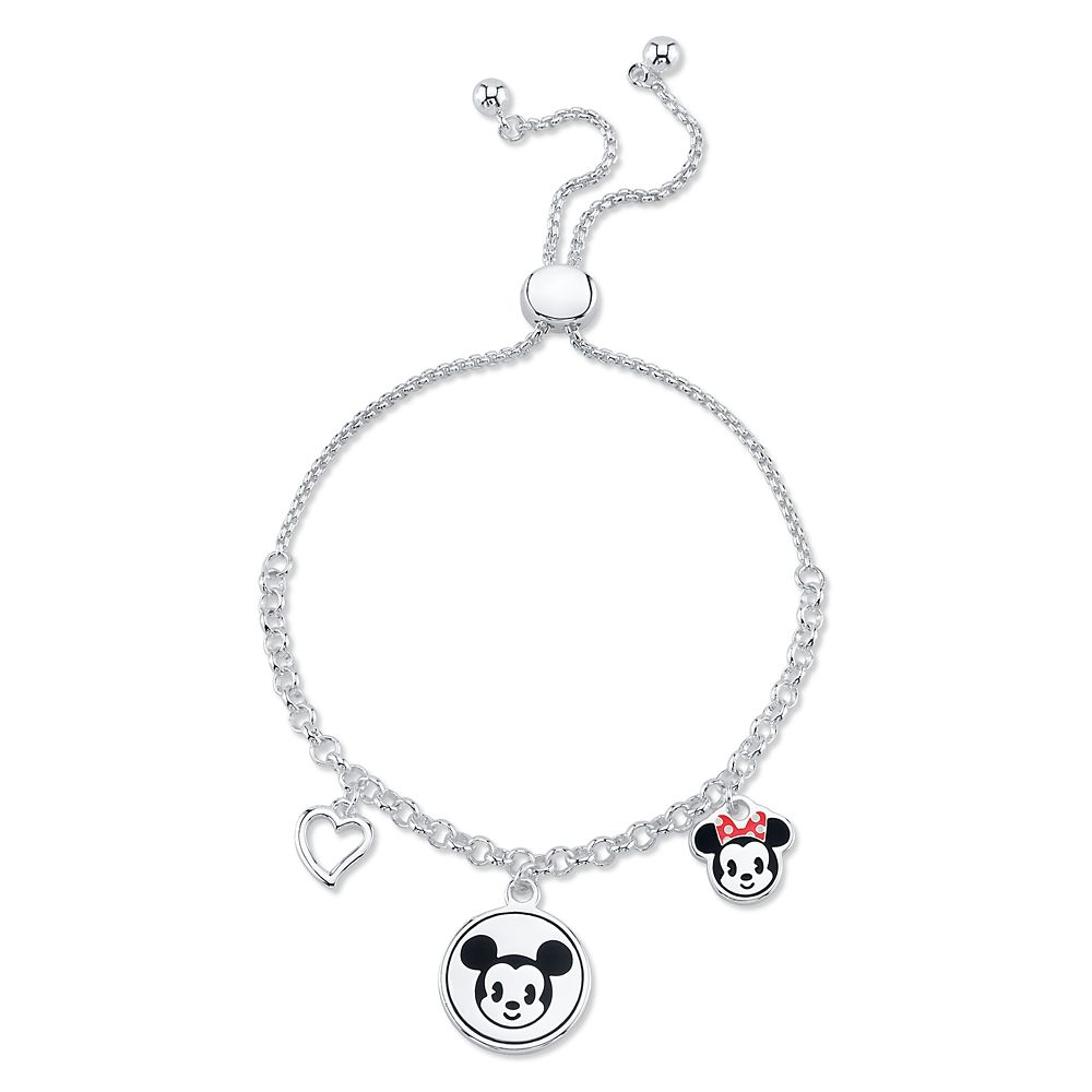 Mickey Mouse and Minnie Mouse Charm Bolo Bracelet