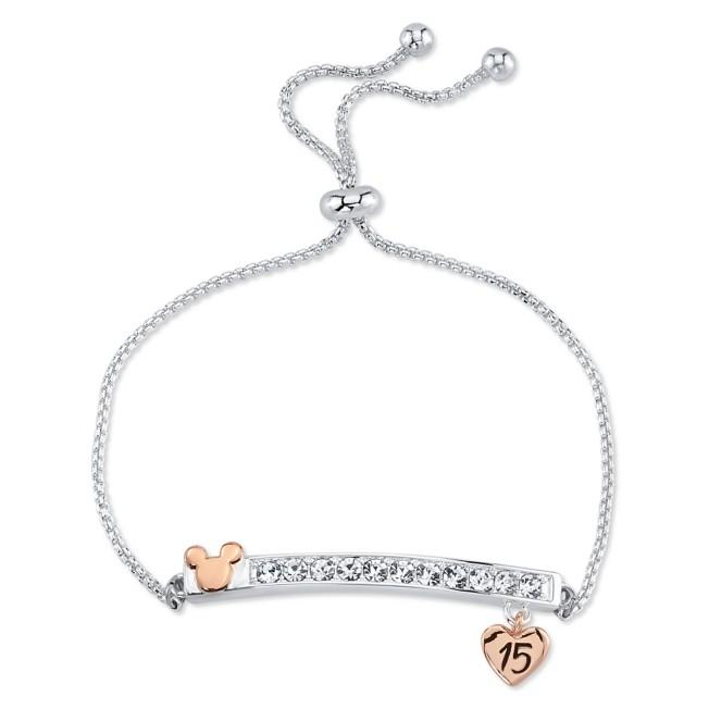 Mickey Mouse ''15'' Bar Bolo Bracelet