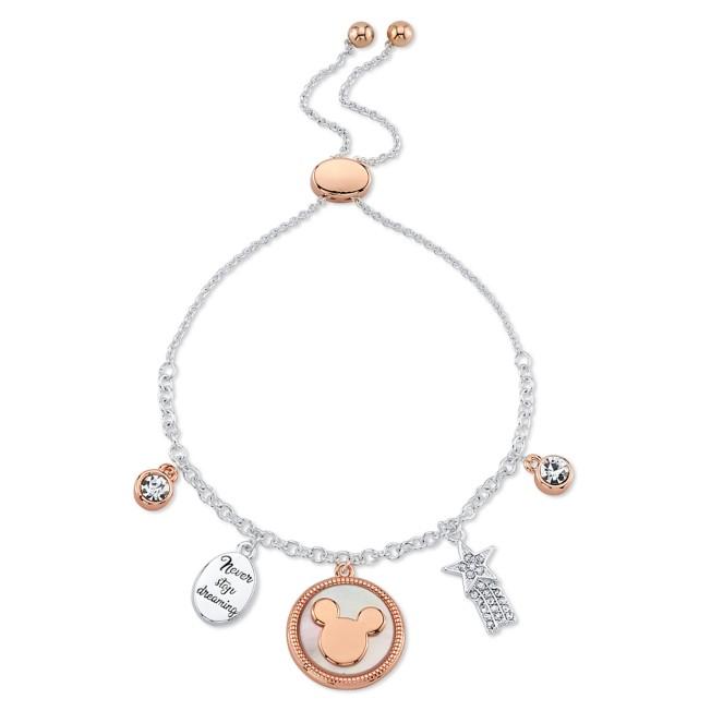 Mickey Mouse Icon Bolo Charm Bracelet