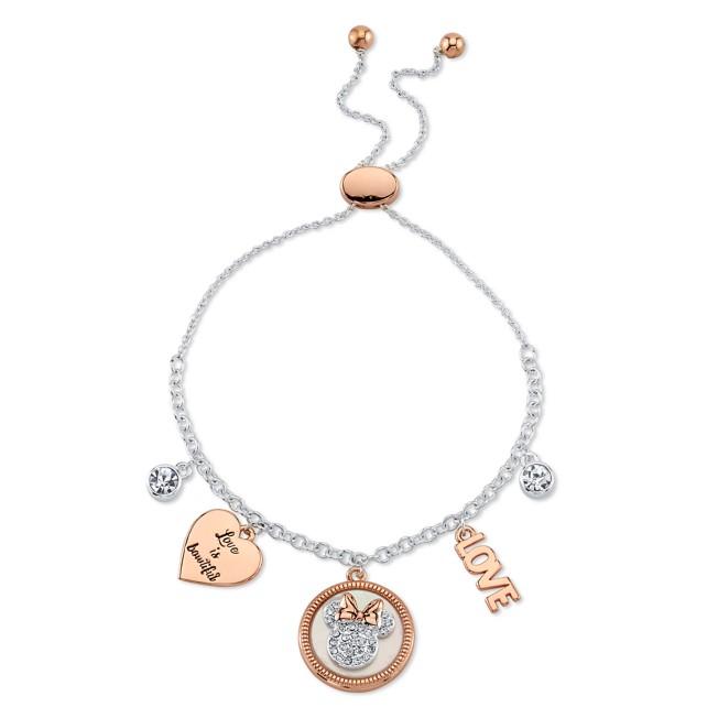 Minnie Mouse Icon Bolo Charm Bracelet