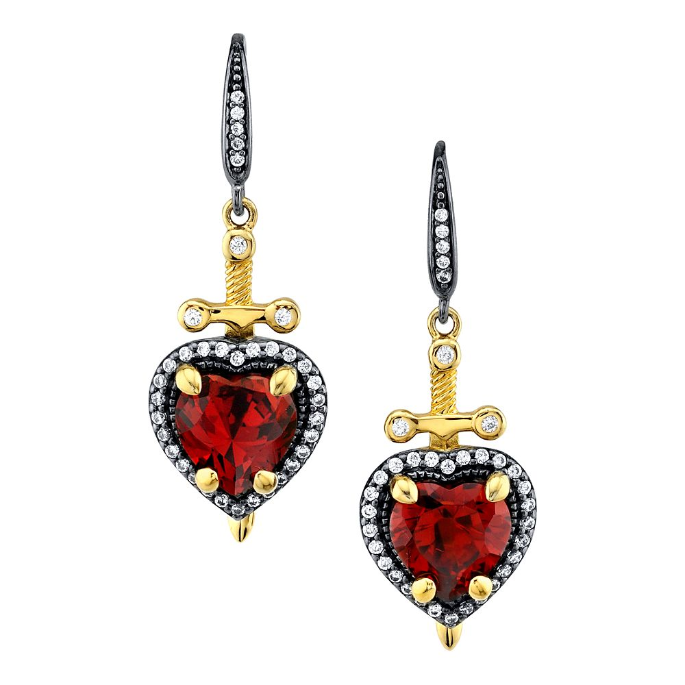 Evil Queen Dagger Heart Earrings by RockLove – Snow White and the Seven Dwarfs