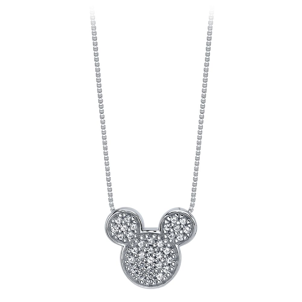 Mickey Mouse Icon Sapphire Pendant Necklace