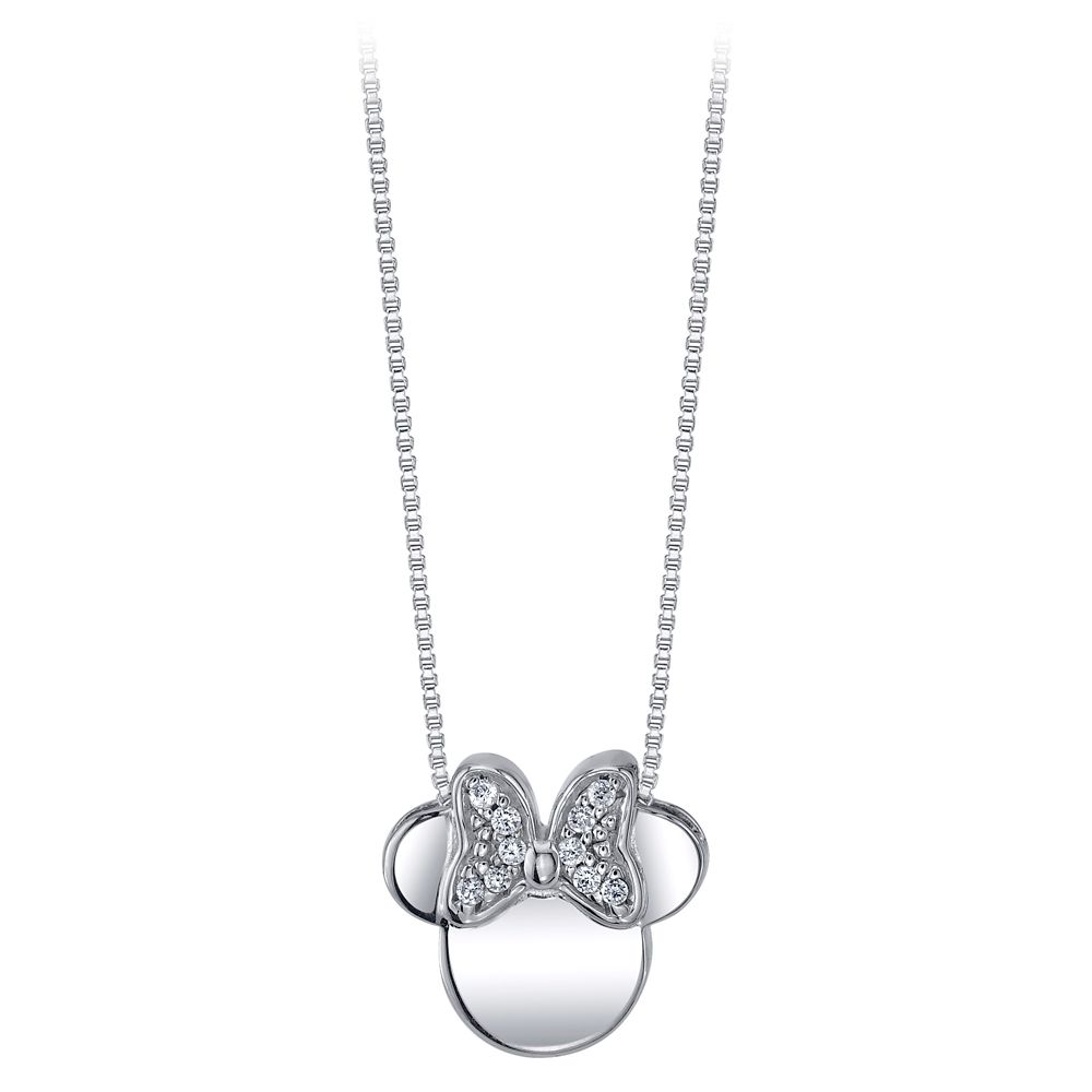 Minnie Mouse Icon Sapphire Pendant Necklace