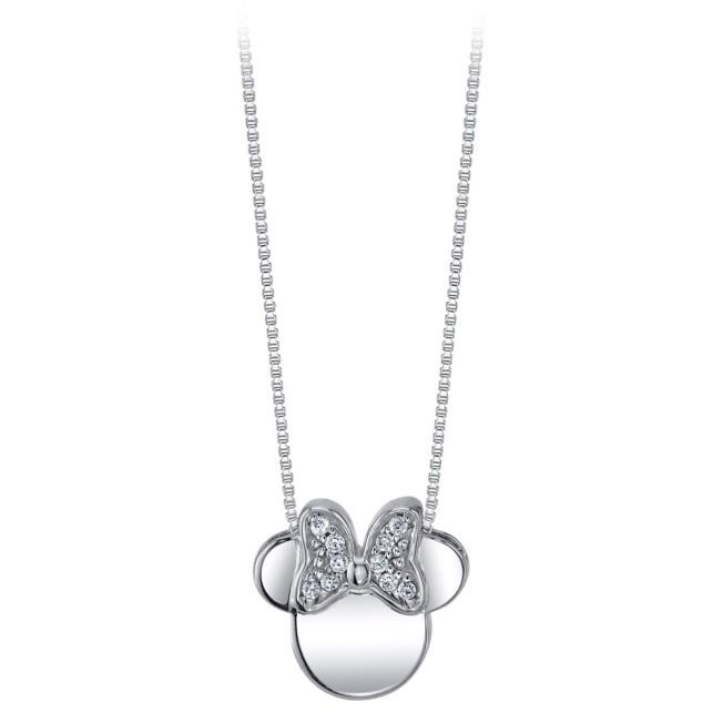 Minnie Mouse Icon Sapphire Pendant Necklace