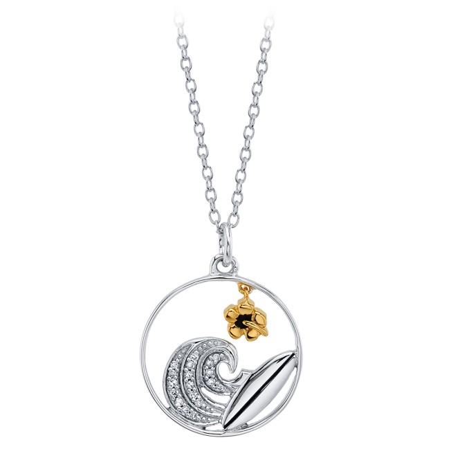 Lilo & Stitch Diamond Wave Pendant Necklace