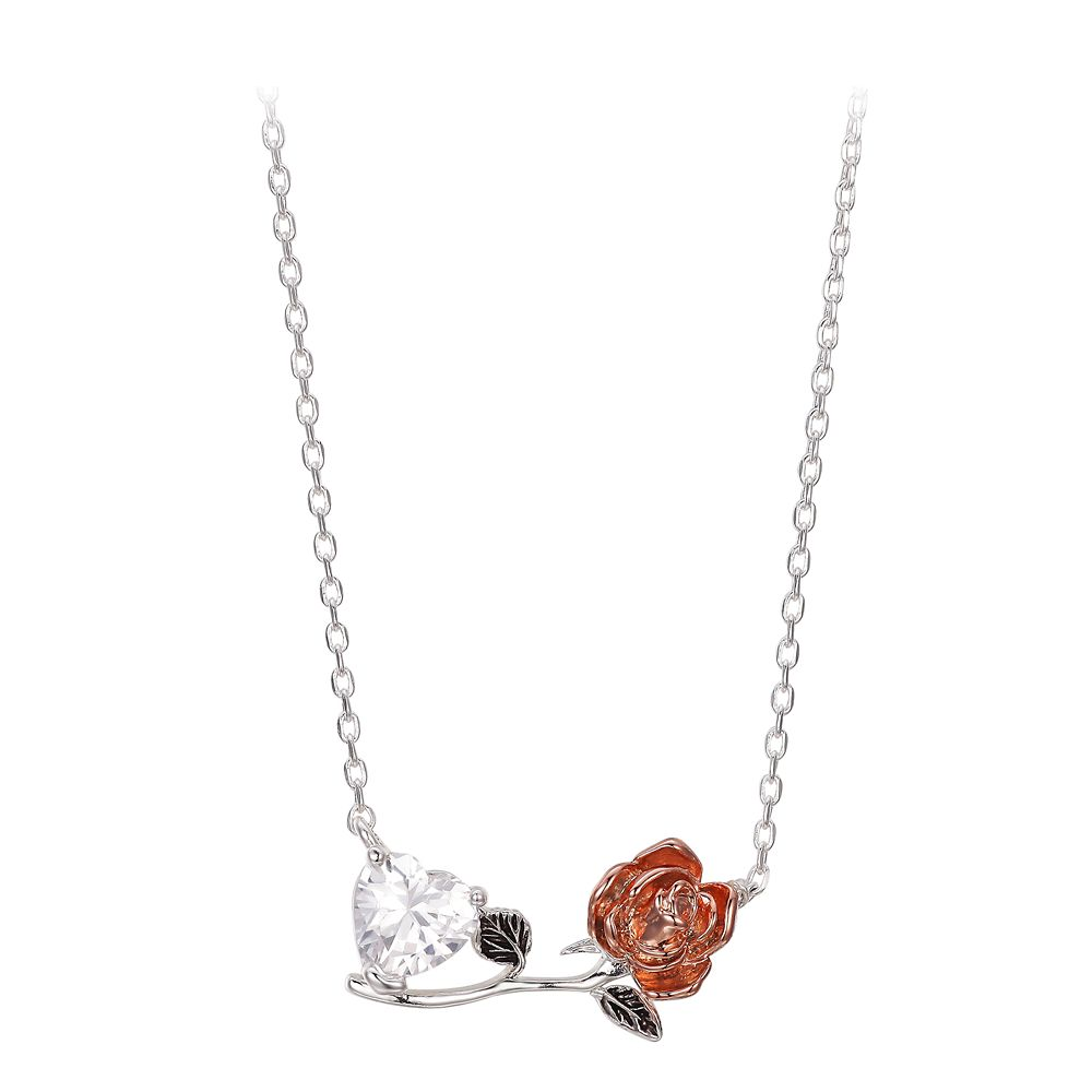Enchanted Rose and Heart Necklace – Beauty and the Beast