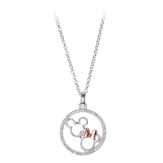 Mickey and Minnie Mouse Icons Necklace