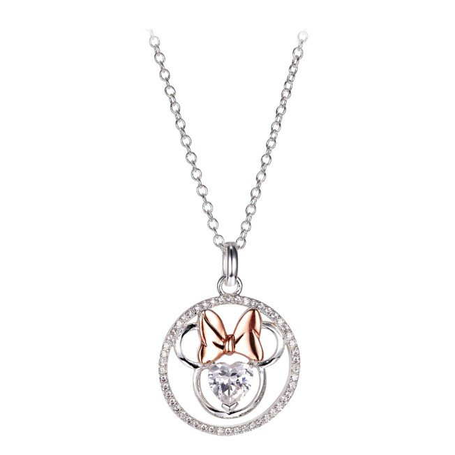 Minnie Mouse Icon Heart Necklace