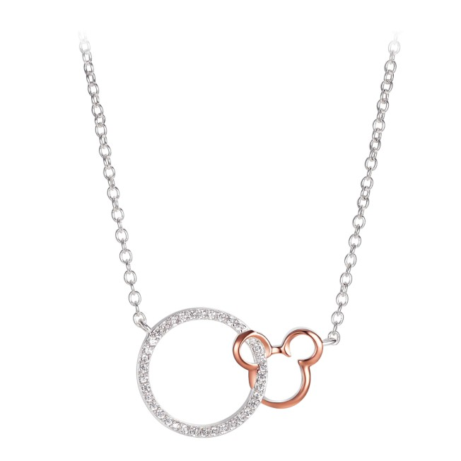 Mickey Mouse Icon and Circle Necklace