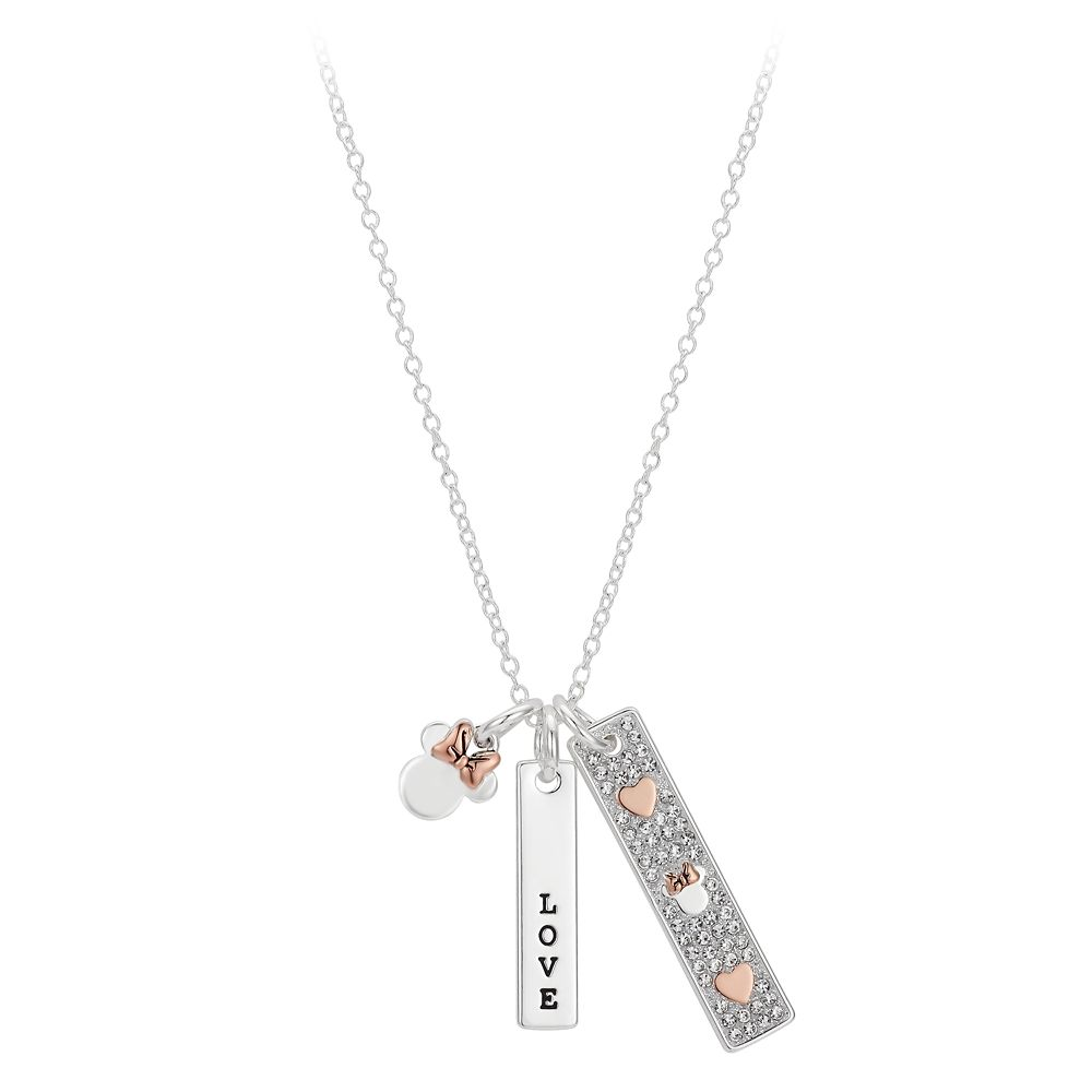 Minnie Mouse ''Love'' Bar Necklace