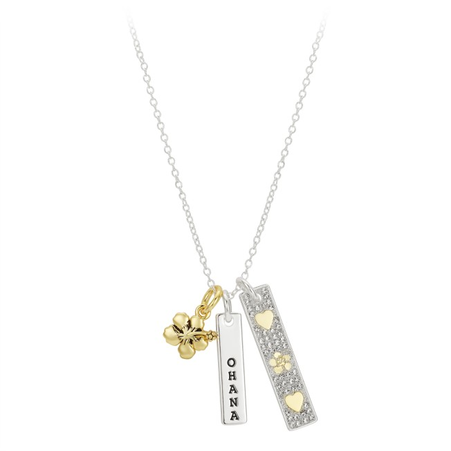 Lilo & Stitch ''Ohana'' Bar Necklace