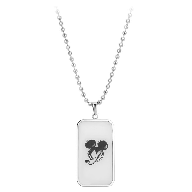 Mickey Mouse Dog Tag Necklace