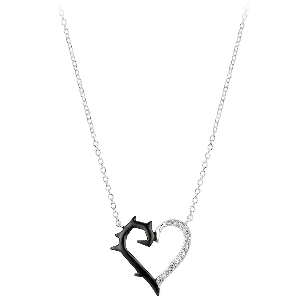 Maleficent Heart and Thorns Pendant Necklace