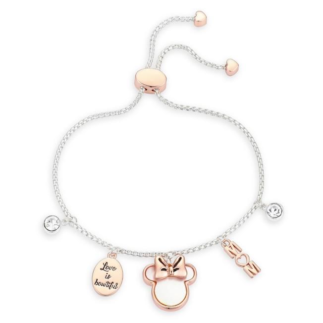 Minnie Mouse ''Mom'' Bolo Charm Bracelet
