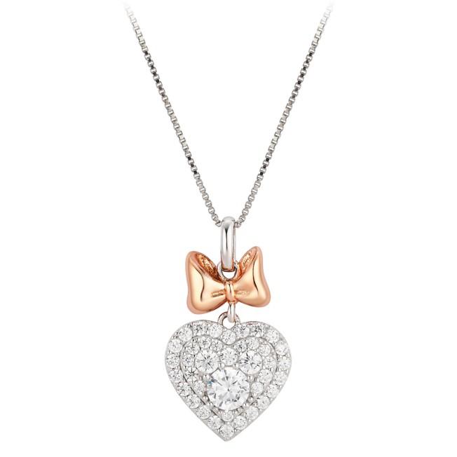 Minnie Mouse Heart Pendant Necklace