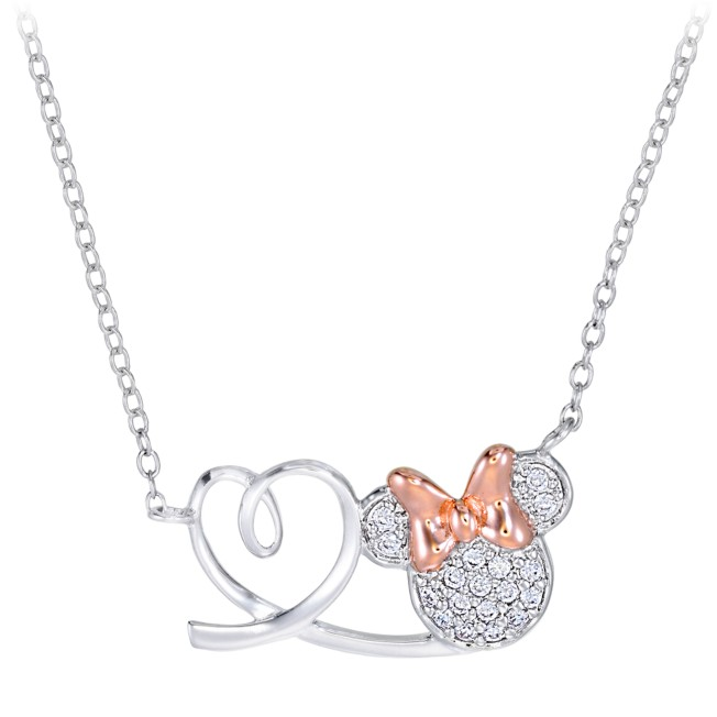 Minnie Mouse and Heart Necklace