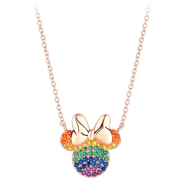 Minnie Mouse Rainbow Icon Necklace