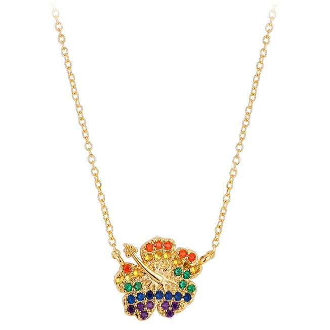 Lilo & Stitch Hibiscus Necklace