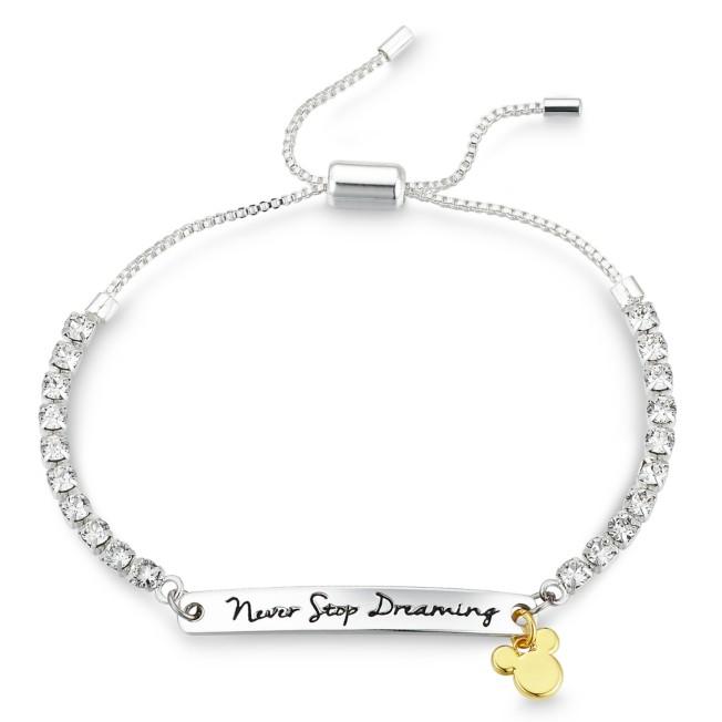 Mickey Mouse Swarovski Crystal Bolo Tennis Bracelet