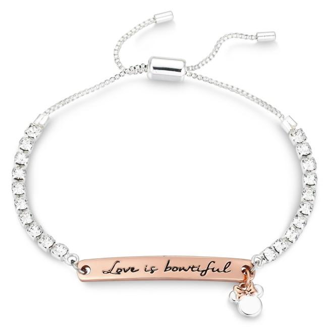 Minnie Mouse Swarovski Crystal Bolo Tennis Bracelet