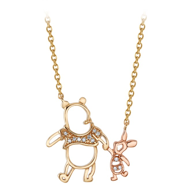 Winnie the Pooh and Piglet Diamond Necklace