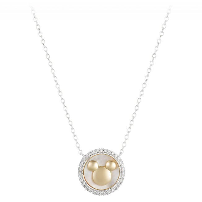 Mickey Mouse Icon Mother of Pearl Necklace
