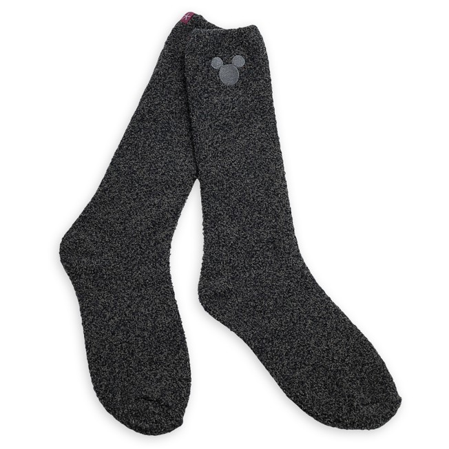 Mickey Mouse Socks for Women by Barefoot Dreams – Dark Gray