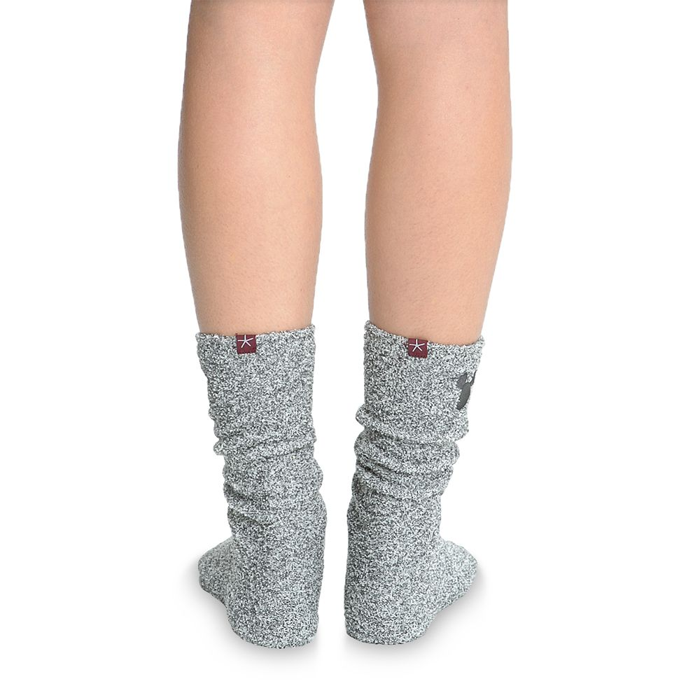 Mickey Mouse Socks for Women by Barefoot Dreams – Light Gray