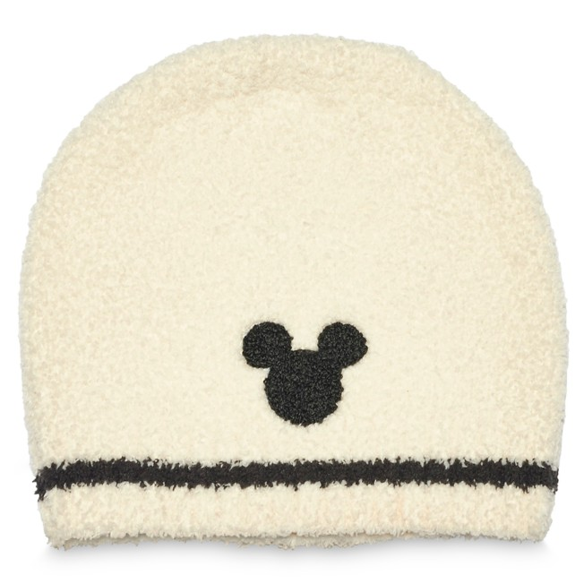 Mickey Mouse Beanie for Adults by Barefoot Dreams – Cream