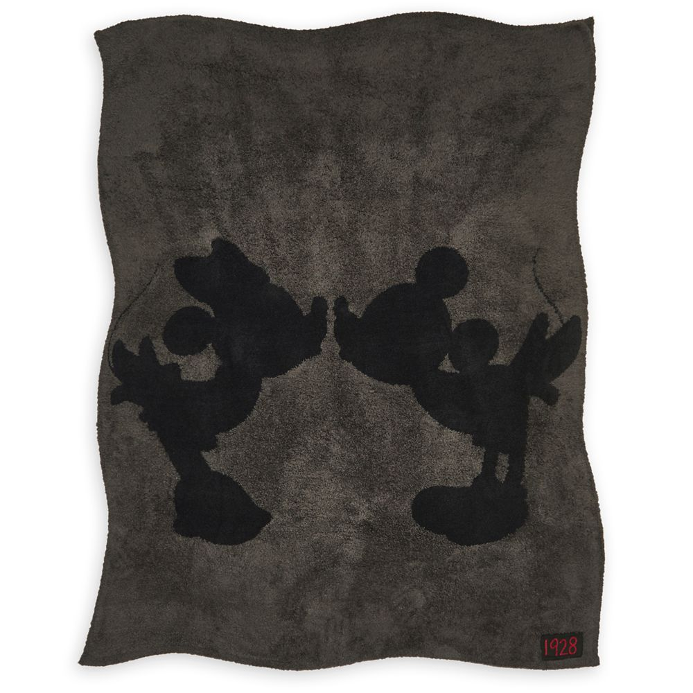 Mickey and Minnie Mouse Throw by Barefoot Dreams  Carbon Official shopDisney