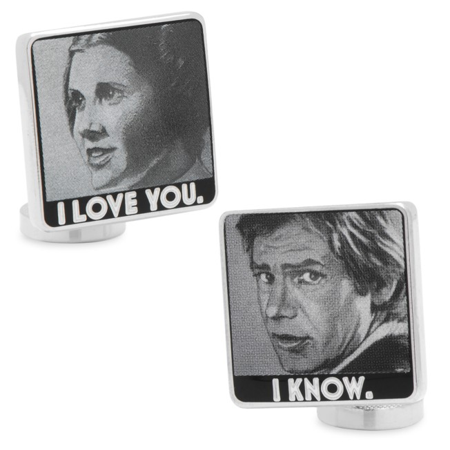 Princess Leia and Han Solo Cufflinks