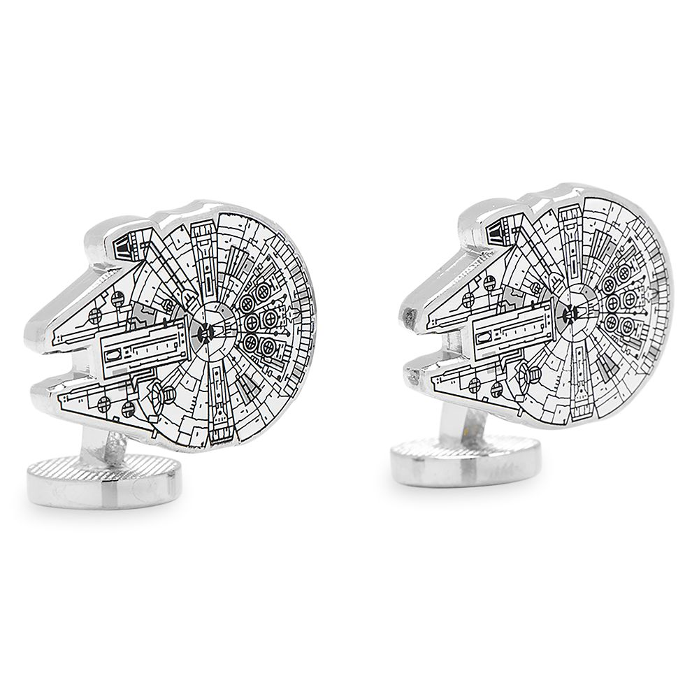 Millennium Falcon Blueprint Cufflinks – Star Wars