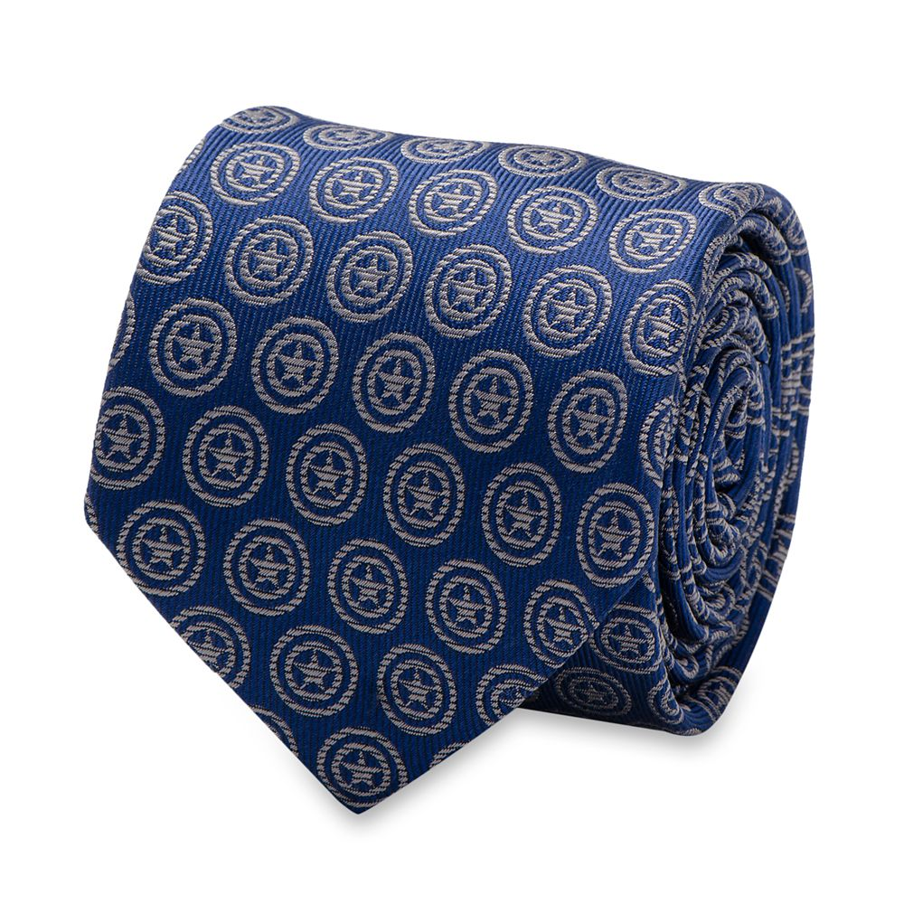 Captain America Shield Silk Tie for Adults