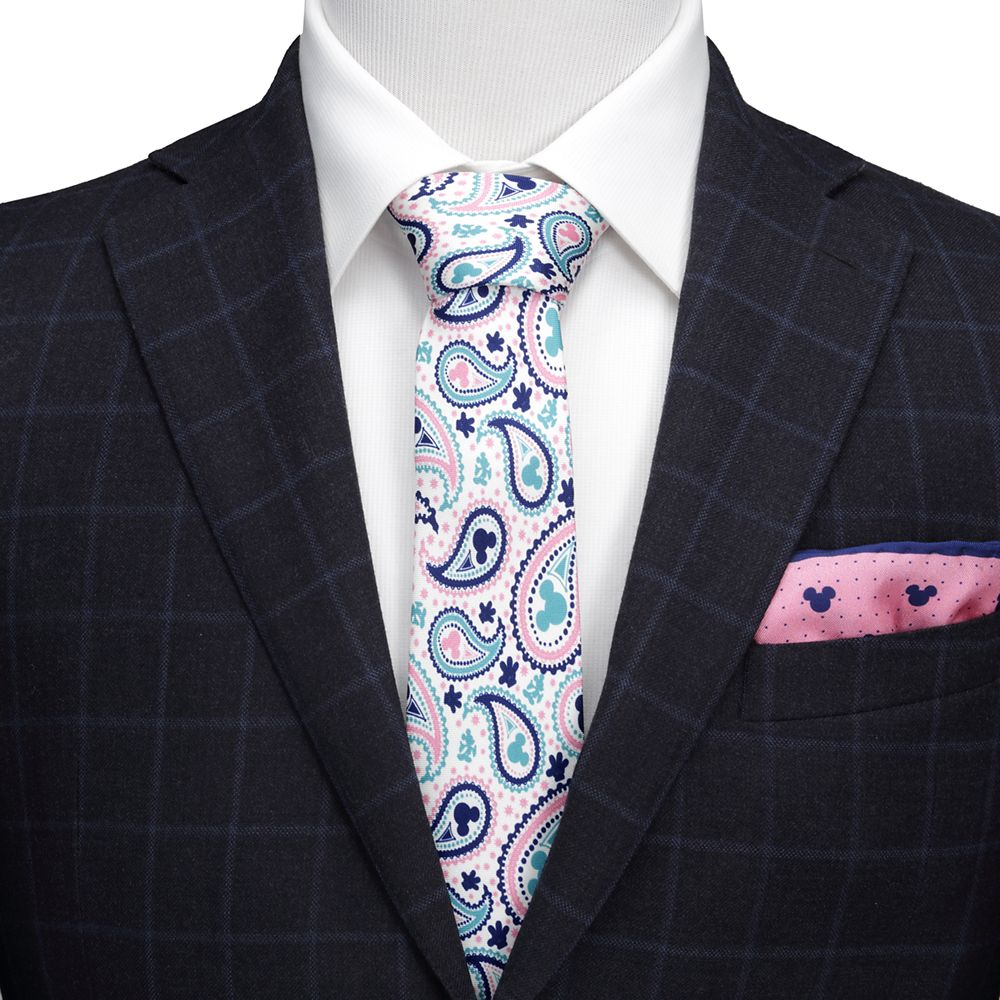 Mickey Mouse Paisley Silk Tie for Adults