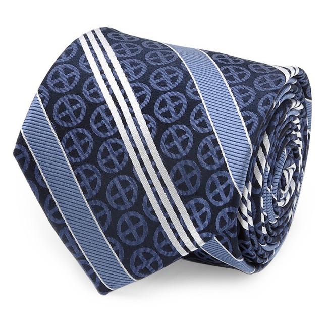 X-Men Symbol Silk Tie for Adults – Navy Blue