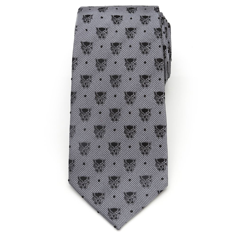 Black Panther Mask Silk Tie for Adults