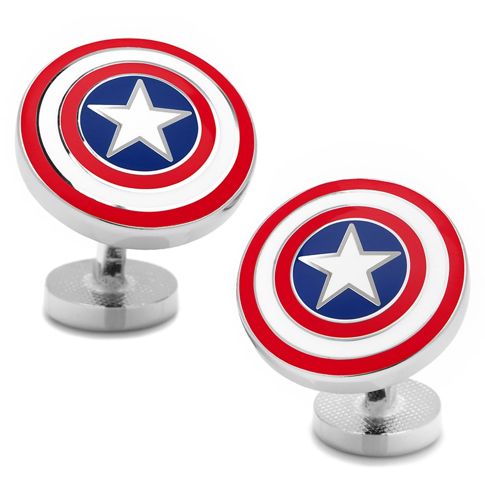 Captain America Color Shield Cufflinks